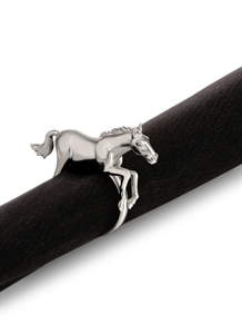 Horse Napkin Ring Set - Platinum