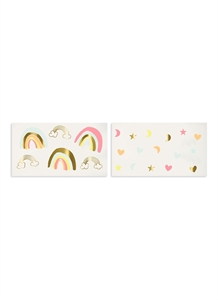 Neon Rainbows temporary tattoos