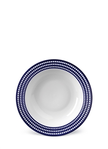 Perlée rimmed serving bowl – Blue