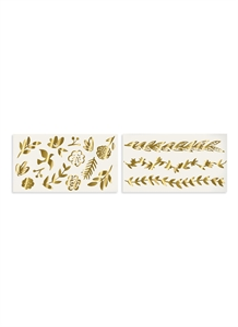 Gold Botanical temporary tattoos