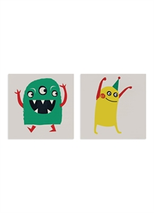 Monster temporary tattoos