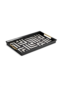 Dedale large rectangle tray