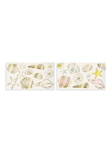 Seashells temporary tattoos