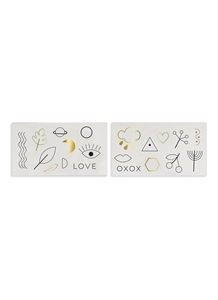 Love XOXO temporary tattoos