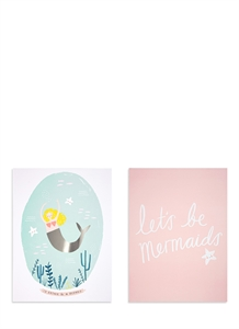 Mermaid art prints set