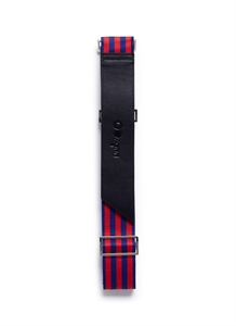Leather trim web luggage strap