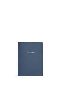 Saffiano leather passport holder