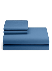 ORGANIC COTTON KING SIZE DUVET SET – BLUE