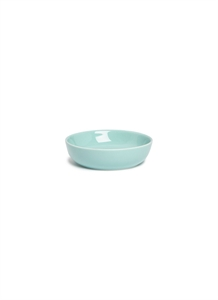 SAUCE DISH –TURQUOISE/OFF WHITE