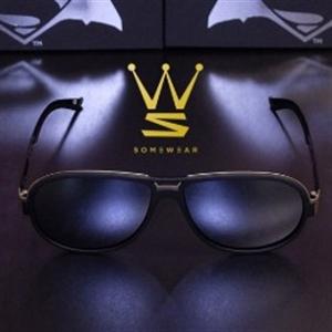 SOMEWEAR X BVS CROSSOVER SUNGLASSES - GOTHAM [BK+GD] GOLD MIRROR COATING