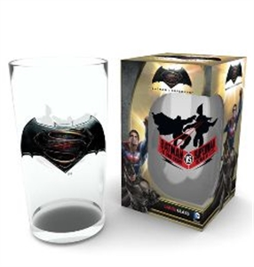 BATMAN V SUPERMAN : LOGO PINT GLASS (MUG BOXED)
