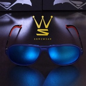 SOMEWEAR FLOATING SUNGLASSES - DRIFTER [BLACK] BLUE MIRROR COATING