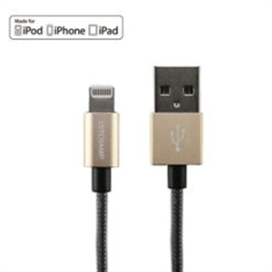 FIRST CHAMPION LT-N120 [GOLD] LIGHTNING TO USB CABLE (METALLIC) (1.2M)
