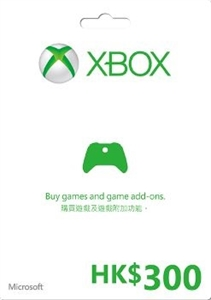 XBOX MICROSOFT GIFT CARD HK$300 禮品咭 (HK ACCOUNT ONLY) (ASI)