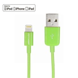 FIRST CHAMPION LT-D20 [GREEN] LIGHTNING TO USB CABLE (1M)