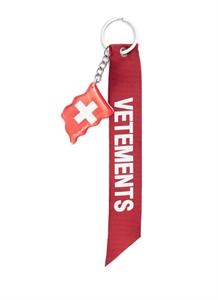 Swiss flag motif keychain