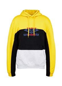 'DHL Umbro' logo print patchwork unisex hoodie