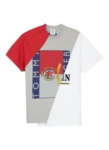 'Tommy Hilfiger' logo print patchwork unisex T-shirt