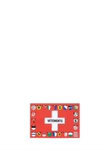 Swiss flag motif postcard