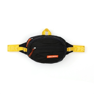 Black Orange Fanny Nylon Waistbag