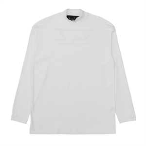 White Logo Funnel Neck Top
