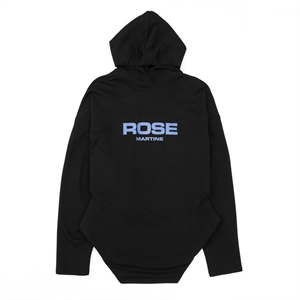 Black Hooded Pullover