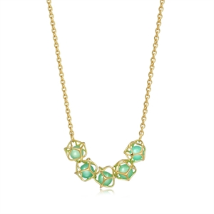Embrace Collection 18K Gold Chrysoprase Necklace