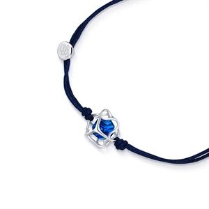 Embrace Collection Sterling Silver  Blue Crystal Bracelet