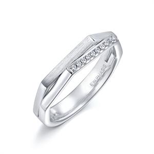 M Collection 18K White Gold  Diamond Ring