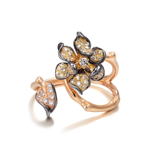 Symphony Collection 18K Red Gold Diamond Ring