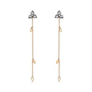 Symphony Collection  18K Red Gold Diamond Earrings