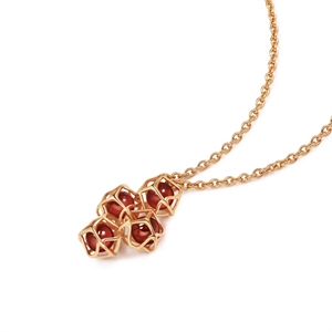 Embrace Collection 18K Red Gold Garnet Necklace