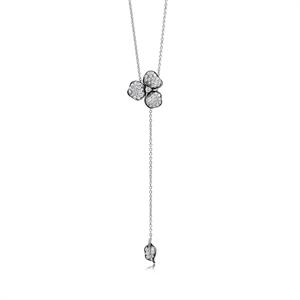 Symphony Collection 18K White Gold  Diamond Necklace