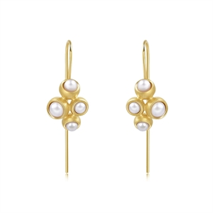 Bloom Collection 18K Gold  Pearl Earrings