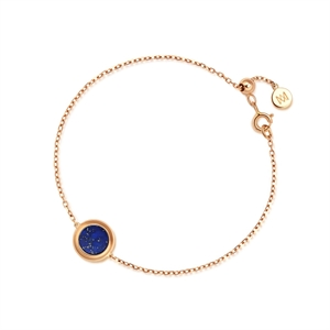 Timeless Collection 18K Red Gold Lapis Diamond Bracelet