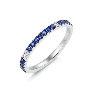Timeless Collection 18K White Gold Sapphire Ring