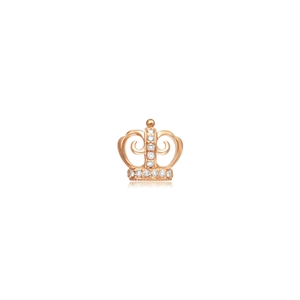 Ear Play 18K Gold Diamond Crown Single Earring