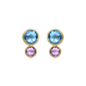 Marco Bicego 18K Gold Topaz Earrings
