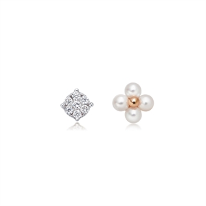 Daily Luxe 18K Rose Gold Akoya Pearl Earrings