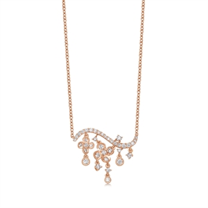 Dazzling Flower 18K Gold Diamond Necklace