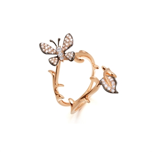 Dazzling Flower 18K Gold Diamond Ring
