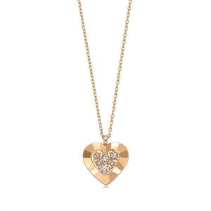 Kashikey Brown Diamond 18K Pink Gold Brown Diamond Necklace
