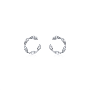 Daily Luxe 18K White Gold Diamond Earrings