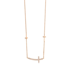 Daily Luxe 18K Rose Gold Diamond Necklace
