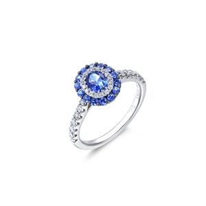Gem Obsession 18K White Gold Sapphire Ring