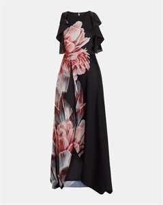 TRANQUILITY RUFFLE MAXI DRESS