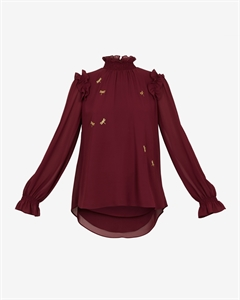 SUGAR PLUM EMBELLISHED TOP