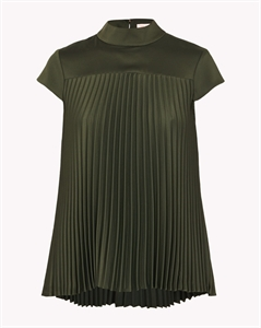 CAP SLEEVE PLEATED TOP