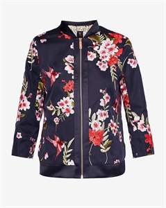BIRD AND BLOSSOM BOMBER JACKET
