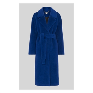 Electric Blue Wrap Coat